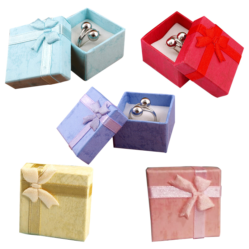 48pcs Fashion Jewelry Box,Random Multi Colors Rings,Earrings,Pendant Box 4*4*3 New Year Christmas/Wedding Party Gift Favor Boxes
