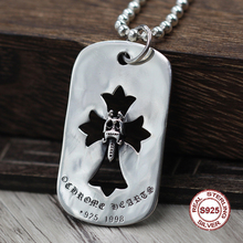 S925 Sterling Silver Men s Pendant Hollow Crusader Flower Pendant Jewelry to create the holy sword