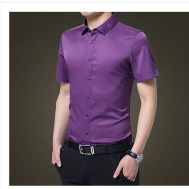 2017 new arrive Men 95% cotten shirts multiple color options fashion clothes shirts for Man