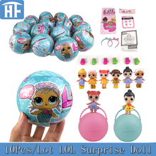 New 10Pcs/Lot 9.5CM LOL Surprise Doll Magic Funny Removable Egg Balls Toys Novelty Unpacking Educational Girls Toys For Children