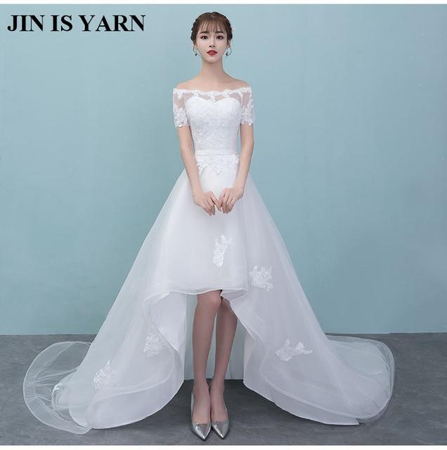 ZJ9036 2017 2017 white ivory lace A line bridal dress bride retro ...