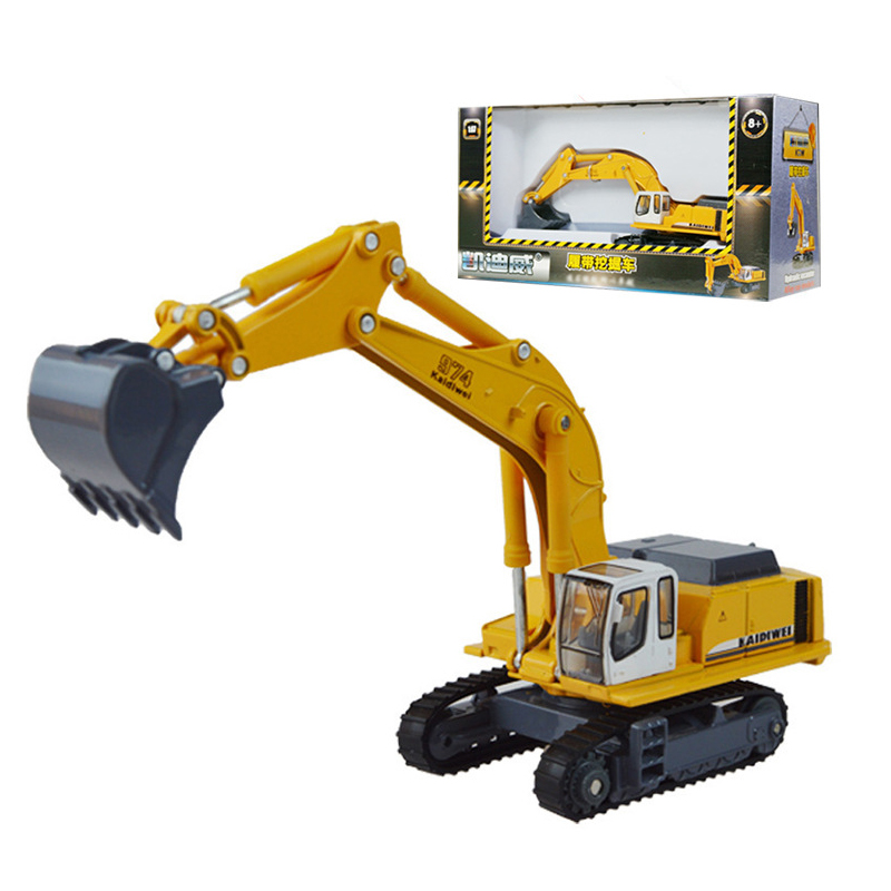 Alloy engineering vehicle mining machine toy car model excavator kid Childrens Day gift