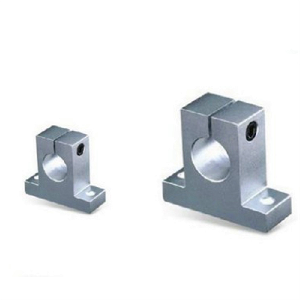 2 Pcs 8-20mm Bearing CNC Aluminum SK-8/SK-10/SK-12/SK-13/SK-16/SK-20 Rail Linear Motion Shaft Support Series Slide