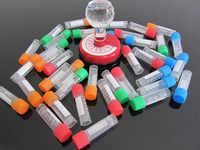 100 pcs 1.8 ml Graduated Centrifuge Tube Laboratory Freezing Tubes Centrifuge Tube for Lab Analysis With Colorful Screw Cap
