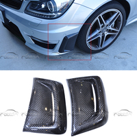 for Mercedes w204 amg Benz C63 AMG 2008 2011 Carbon Fiber Car Styling Front Fender Bumper Vent mask