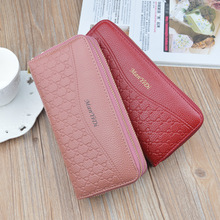 double zipper Large Capacity women long wallets PU leather coin purse 2019 new korean fashion slim sale minimalist clutch
