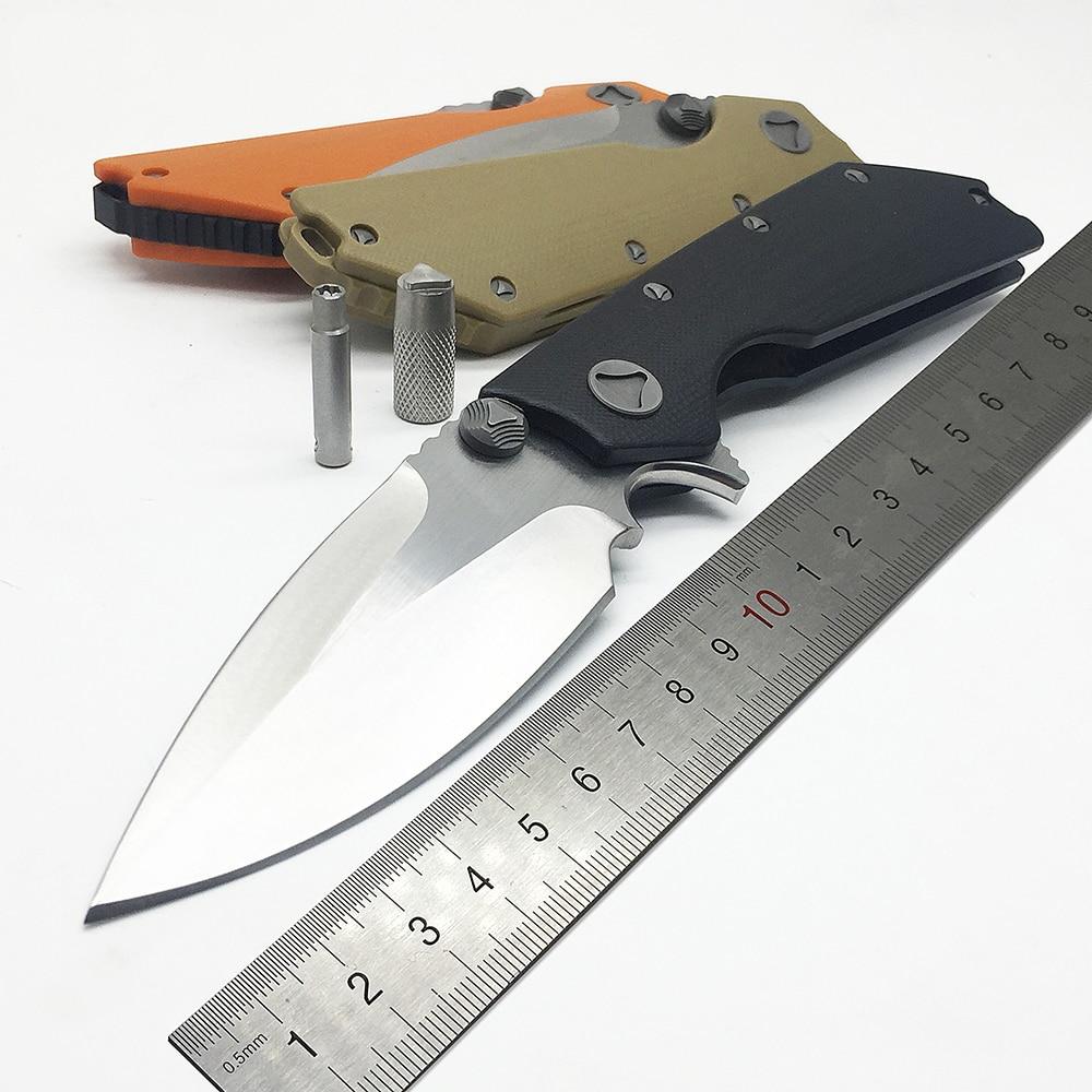 ZZSQ DOC flip couteau pliant tactique 9Cr18Mov lame G10 poignée roulement à billes camping survie couteaux de poche chasse en plein air EDC