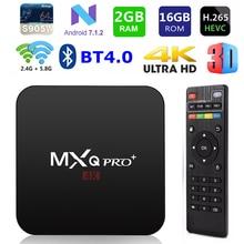 MXQ PRO+ Smart TV BOX Android 7.1 S905w Quad core 2G/16G Blu