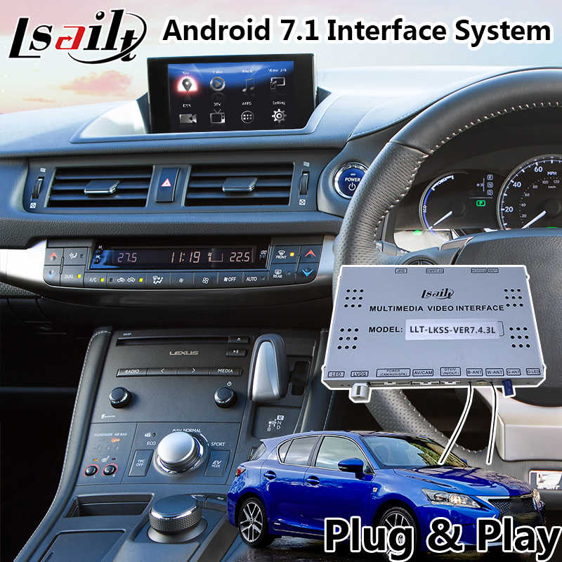 Android 7 1 Multimedia Video Interface for Lexus CT 200h