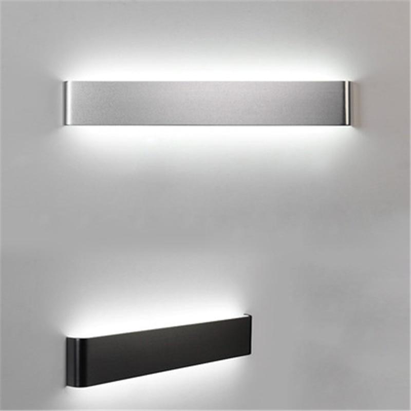 Modern minimalist LED aluminum lamp bedside lamp wall lamp room bathroom mirror light direct creative aisle 12w 16w 22w modern minimalist led metal wall lamp bedside lamp corridor aisle mirror bathroom light white