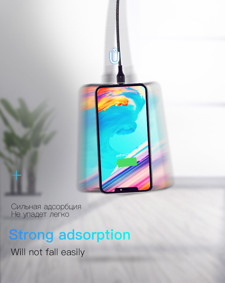 NOHON Magnetic Cable 3A Super Fast Charging For iphone XS MAX XR Micro USB Type C For Samsung Huawei Xiaomi 9 Magnet Data Cables (6)