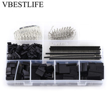 560pcs dupont connector jumper wire cable pin header pin housing and male female pin head terminal adapter plug set kit 1450pcs/set 2.54mm Male Female Pin Connector and Housing Header Kit for Making Jump Wire