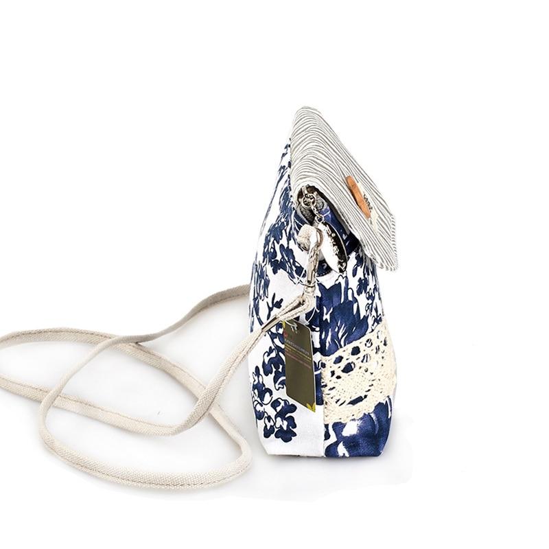 QZH Women Mini Messenger Bags Flap Bag Lady Fresh Style Canvas - Պայուսակներ - Լուսանկար 4