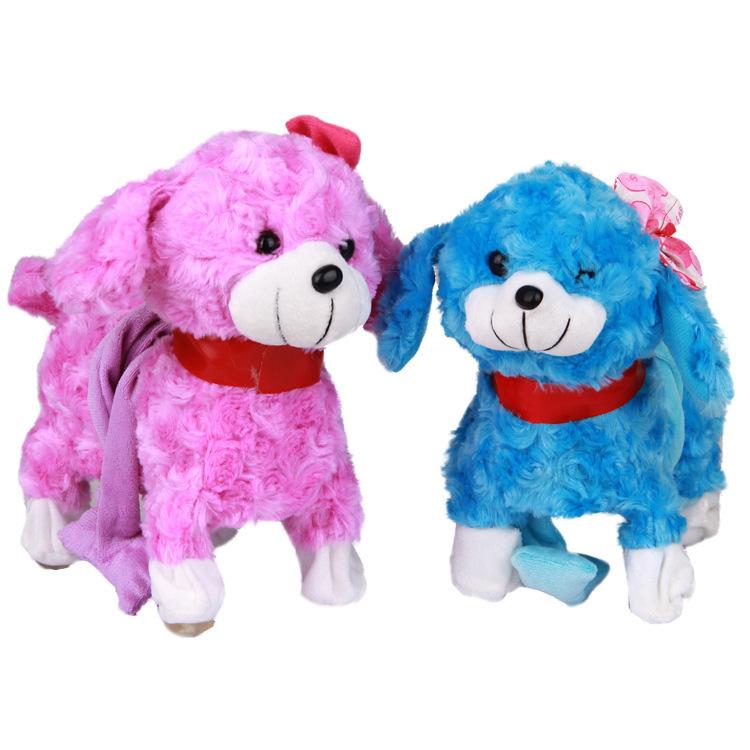 kawaii cantar bailar caminar movimiento blanco rosa cachorro de perro mascota electrnica de juguete de regalo