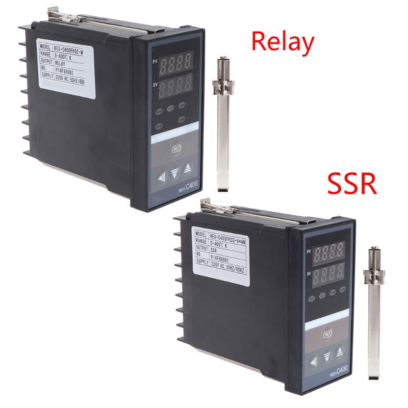 PID Digital Temperature Controller RKC REX-C400 Universal Input Relay SSR Output for Automatic Packing Machine Thermostat W729