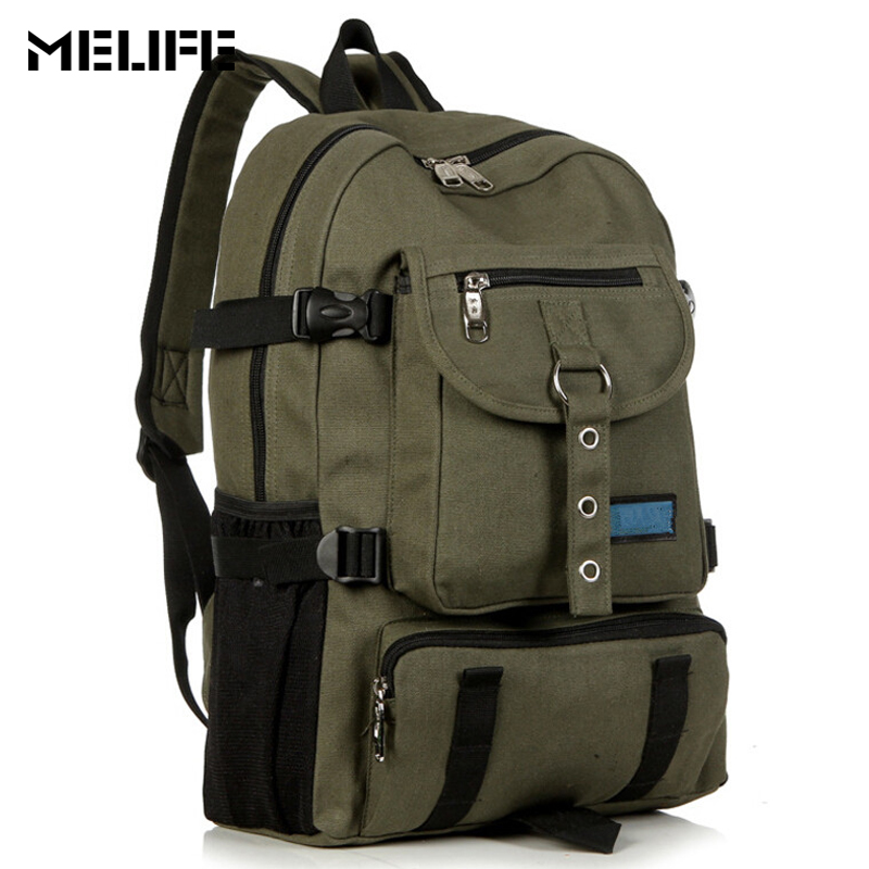 MELIFE Fashion arcuate Shoulder strap zipper solid Casual bag Men backpack School bags Canvas bag designer backpacks for Male new gravity falls backpack casual backpacks teenagers school bag men women s student school bags travel shoulder bag laptop bags