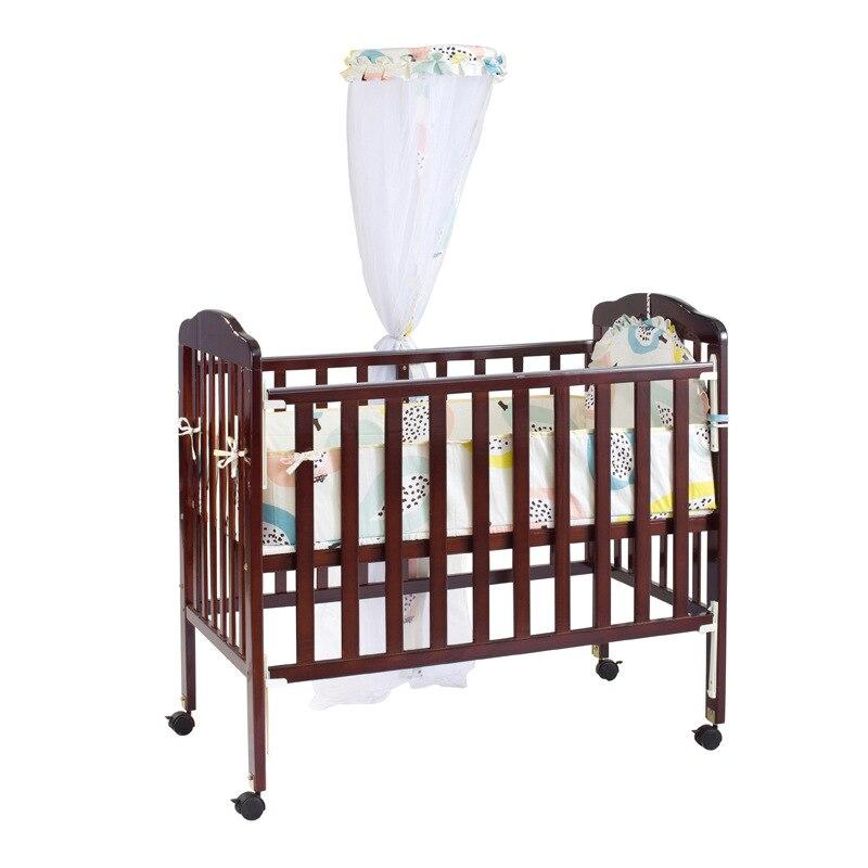 Berceau marron bois massif multifonctionnel bébé BB lit filets en lit nouveau-né jeu lit lit enfant
