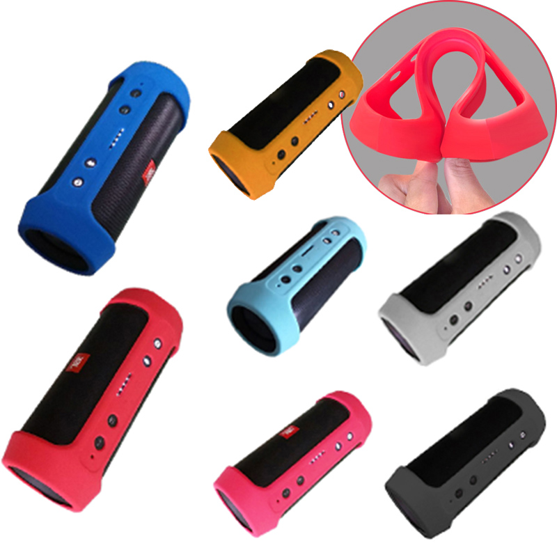 Soft Silicone Wireless Bluetooth Speakers Cases Bag For JBL Charge 2 Charge2+ Charge 2+Storage Portable Cover Travel Speaker Box