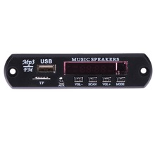 Hot Sale Car Music MP3 WMA Decoder Board 12V Audio Decoder Board Module USB TF FM