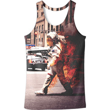ZOGAA 2019 digital 3D fireman Fire Print Vest stereo tank top mens ropa hombre clothing