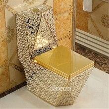 Европейский стиль, домашний керамический унитаз, напольный унитаз, цельный роскошный унитаз, креативный, для взрослых, для ванной комнаты, сиденье для унитаза, 05415
