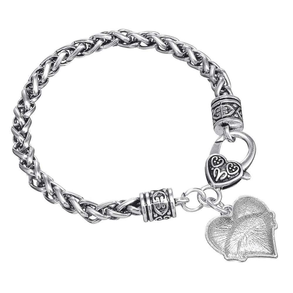 c98497d4f371 Mi forma de apoyo de cáncer de mama sobreviviente pulsera brazalete, regalo  de la joyería para el paciente de corazón de cristal de encanto ...