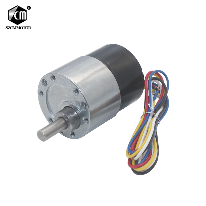 37mm Diameter Gear Box Eccentric Shaft Brushless Geared Motor Silent Gear Motor CW/CCW PWM Speed Adjust BLDC Gear Motors d shaft bldc motor gear 12v 24v 5 1270rpm adjustable speed cw ccw electric motors for toys cars for kids to ride diy toy etc