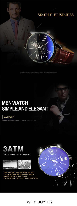Relojes para hombre marca superior de lujo yazol reloj para hombre cinturón minimalista de negocios relojes de pulsera de cuarzo Erkek Kol Saati reloj Masculino