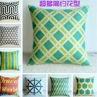 Simple Geometric Pattern Super Soft Cotton Cushion Office Sofa Car Seat Thickened Waist Cushion Factory Direct