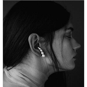 Image 5 - Europäische und Amerikanische mode nische marken allmählich ändern Perle ohr nägel weibliche übertreibung temperament vintage ohrringe