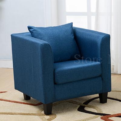 Тканевая одноместная Софа стул Европейская маленькая квартира отель кафе интернет кафе карточка сиденья PU диван - Цвет: VIP 9