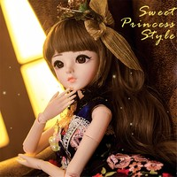 60cm Large BJD/SD 1/3 Girls Dolls Toys Cosplay Dolls with Clothes Outfit Shoes Wigs Hair 100% Handmade Makeup Reborn BJD Doll