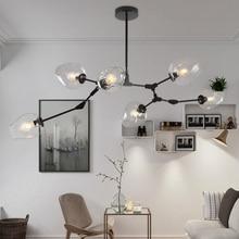LOFT Industrial Lámparas Luces Globo De Cristal de Diseño Moderno Y Minimalista Araña Colgando en la Sala de estar/Restaurante E27 Lámparas