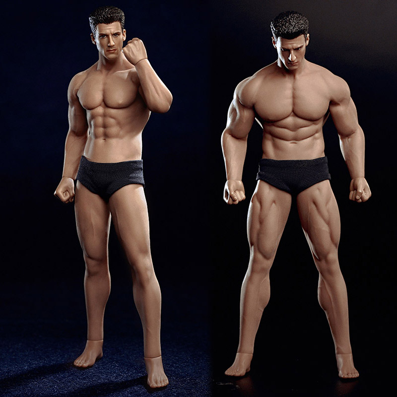 1/12 Scale TM01A TM02A Scale Super Flexible Male Muscular Man Body With Head Carving For 6