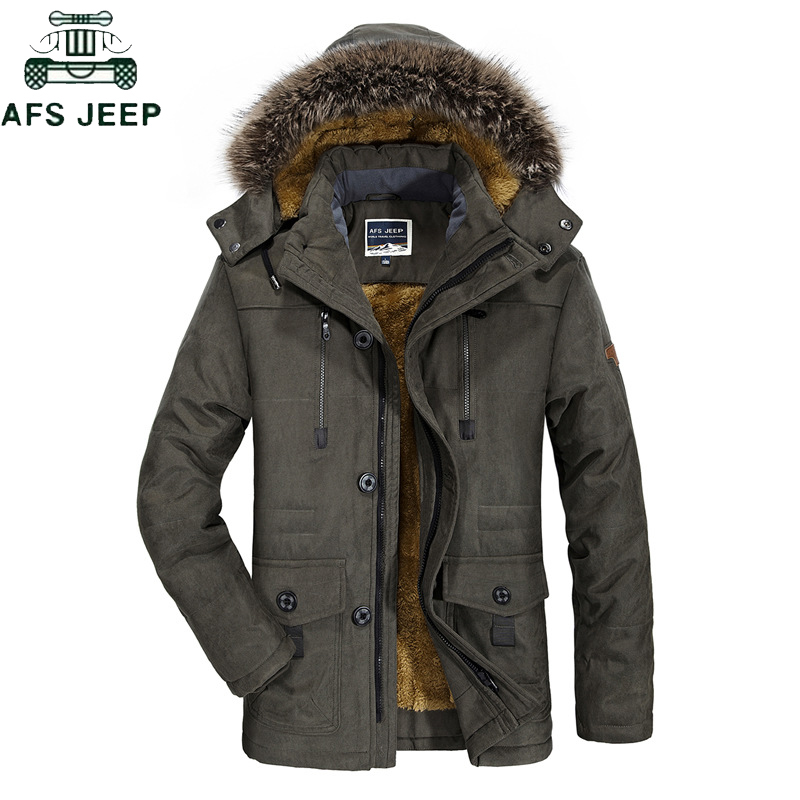 2019 Thick Warm Winter Jacket Men Casual Windproof Parkas Men Plus Size 6XL Men's Fur Collar Hooded Male Fleece Jackets Coat