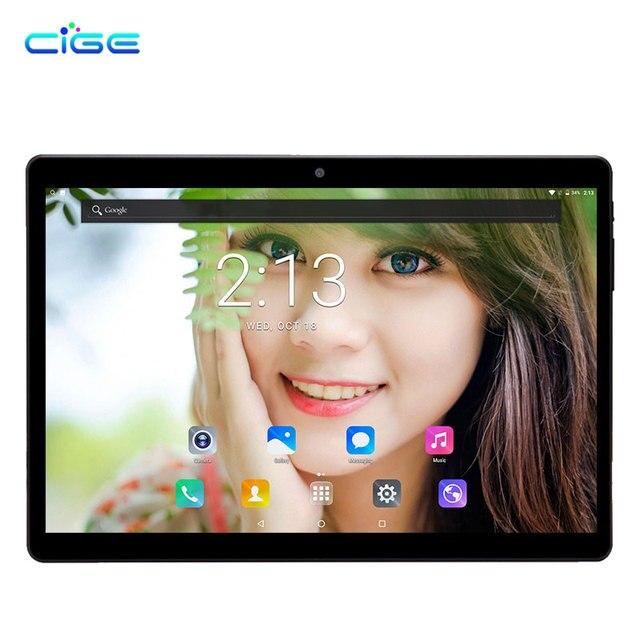 Cige 4 г LTE Android 7.0 10.1 дюймов Планшеты PC MT8752 8 core 4 ГБ Оперативная память 64 ГБ Встроенная память IPS планшеты шт 5MP Двойной Wi-Fi GPS OTG Full HD IPS