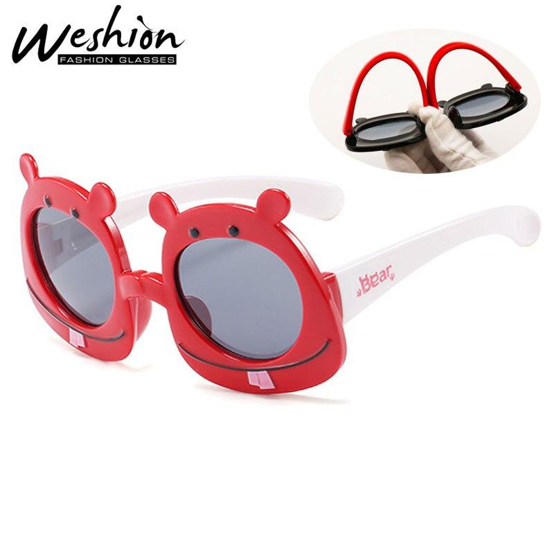 Aus Dem Ausland Importiert Kinder Sonnenbrille Polarisierte Bär Karton Kinder Sonnenbrille Für Junge Mädchen Flexible Marke Sport Platz Brillen Uv40 Oculos 2019