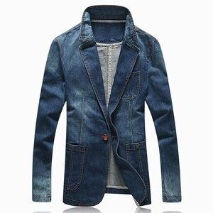 Image 5 - HOT 2020ใหม่แฟชั่นฤดูใบไม้ผลิBlazer Menกางเกงยีนส์ชุดลำลองชุดJeanแจ็คเก็ตผู้ชายSlim Fit Denimแจ็คเก็ตชาย