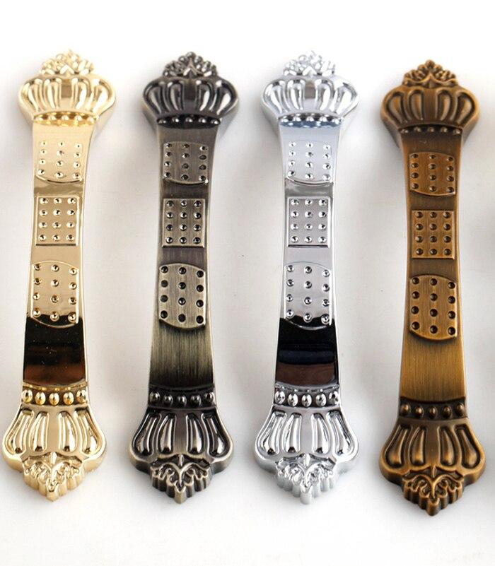5PCS Hole distance 96mm chrome gold antique brass Crown Handle Dresser Drawer Pulls Handles cabinet Knobs Decorative Handle anon маска сноубордическая anon somerset pellow gold chrome