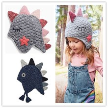2019 autumn winter hand knitted  hat for baby boy and girl knit kids child children crochet