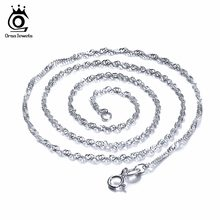OSRA JEWELS Wholesale Jewelry 2019 Top Quality Silver Color Water Wave Necklace Chain Lead&Nickel Free Necklace Chain OC02(China)