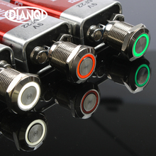 12mm LED 3V 5V 12V 24V 220V Metal Button Switch Momentary Latching push button auto reset waterproof illuminated Ring 12HX стоимость