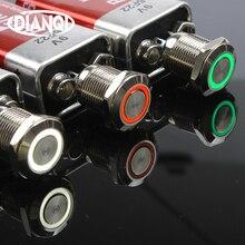 12mm LED 3V 5V 12V 24V 220V Metal Button Switch Momentary push button auto reset waterproof illuminated Ring 12HX.F.C цена