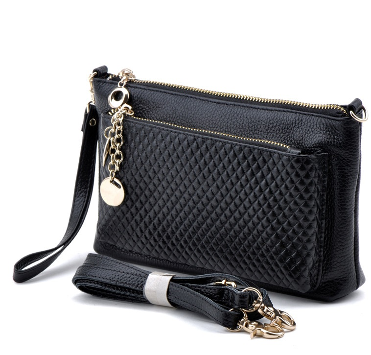 2018 Genuine Leather Fashion Woman Handbag Women Clutch Bag Coin Purse Shoulder Bags Female Crossbody Bag Messenger Bags DC20 crossbody bag handbag 2018 new brand designer messenger bags genuine leather women s female fashion woman chains bag shoulder