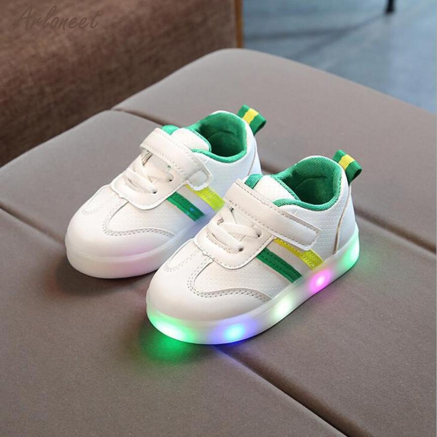 Sneakers Shoes 27 LED Striped Unisex Children