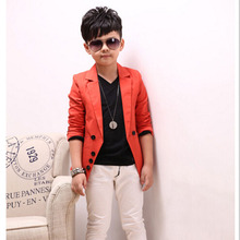 Boys clothes kids Leisure Suit boys Western-style Clothes Boys Cotton solid Turn