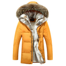 Men Women Lovers Clothes Coats Parkas 2016 New Winter Cashmere Wool Hooded Jacket Thickened Warm Fur Collar Men's Down Jacket
