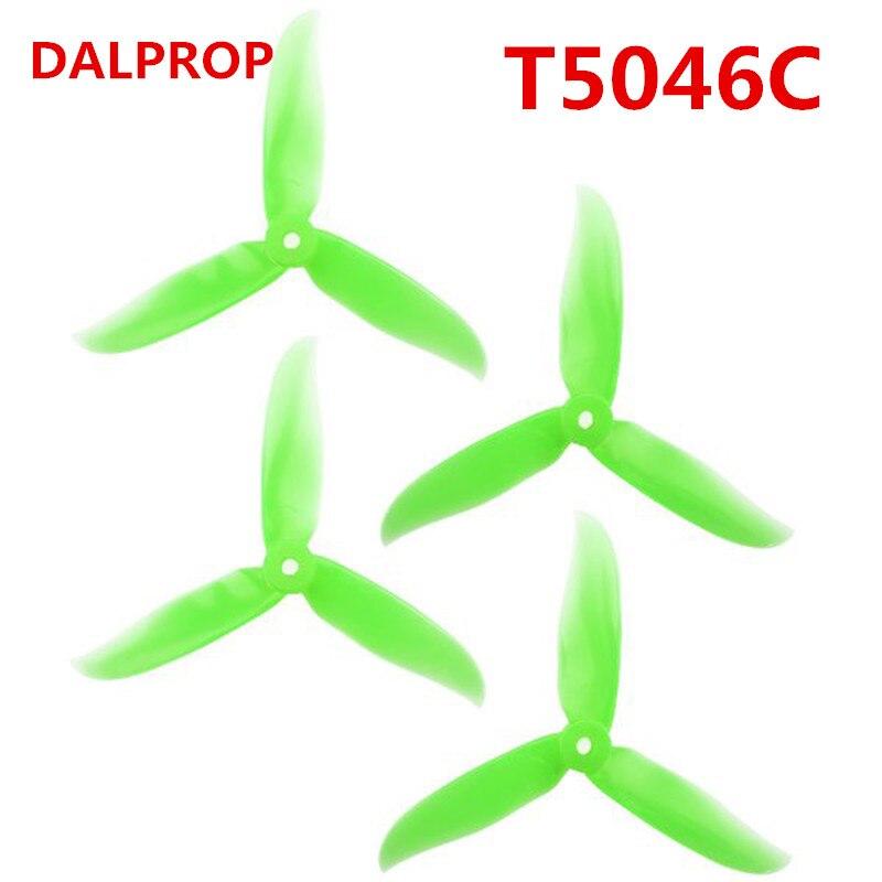 24 pcs / 12 pair DALPROP CYCLONE T5046C T5046BN 5045 3 Blade propeller for QAV-R 220 QAV250 210 GEP-TX RC FPV Drone Quadcopter dal t5046c cyclone propeller red