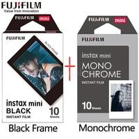 Fujifilm Fuji Instax Mini 9 Film black and white Monochrome Mono + Black Frame Film for Mini 8 70 8 Plus 90 25 Camera SP 1 SP 2