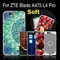 """Macio de alta qualidade silicone case capa para zte blade l4 pro/t610 a475 5.0 """", phone case para zte l 4 pro/a 475 back case capa"""